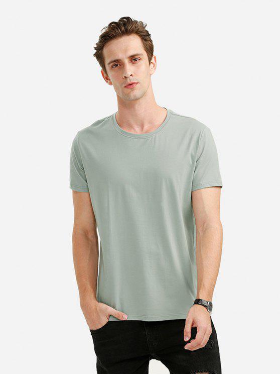 ZANSTYLE Camiseta con Cuello Redondo para Hombre - Verde M