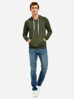 Hooded Sweatshirt - Blackish Green M