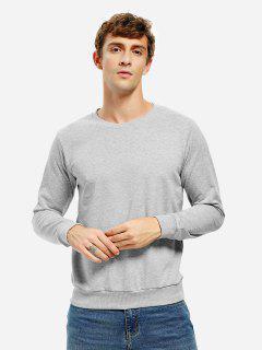 Sweat-Shirt à Col Rond  - Gris Clair 3xl
