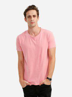 ZANSTYLE Cuello Redondo De Camiseta Para Hombre - Rosado M