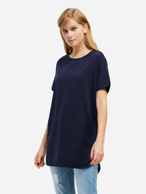 sale ZAN.STYLE Longline T-shirt - DEEP BLUE S Mobile