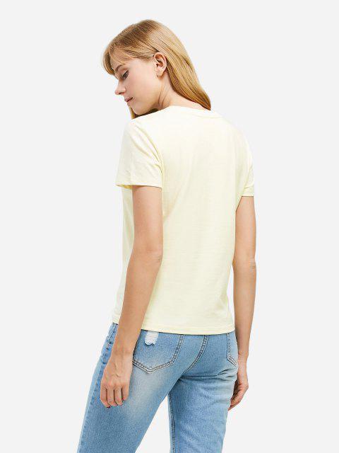 shops ZAN.STYLE Half Button T-shirt - PALOMINO M Mobile