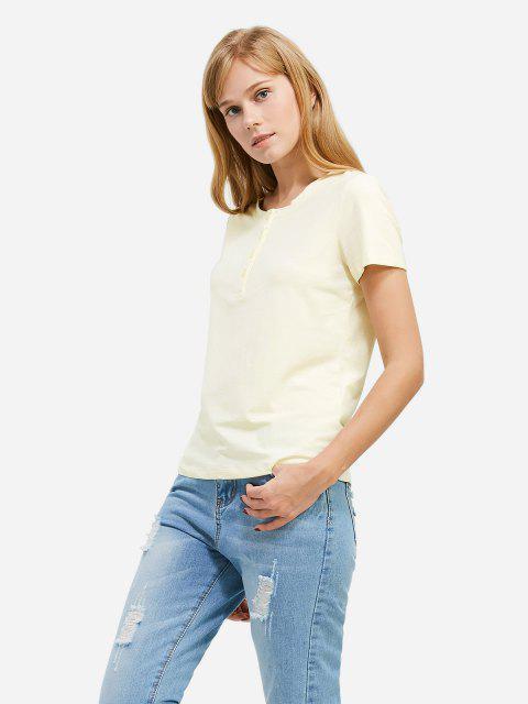 latest ZAN.STYLE Half Button T-shirt - PALOMINO S Mobile