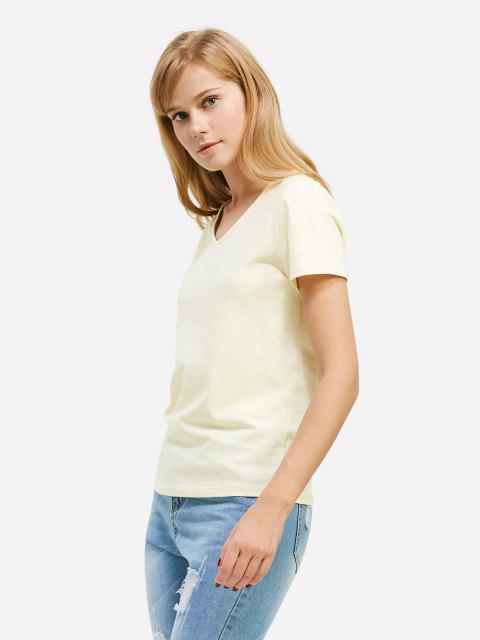 new ZAN.STYLE V-neck T-shirt - PALOMINO XL Mobile