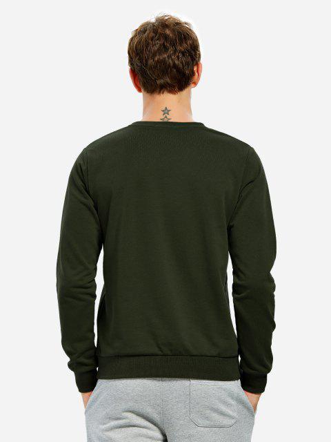 buy ZAN.STYLE Long Sleeve V Neck Sweatshirt - TURQUOISE XL Mobile