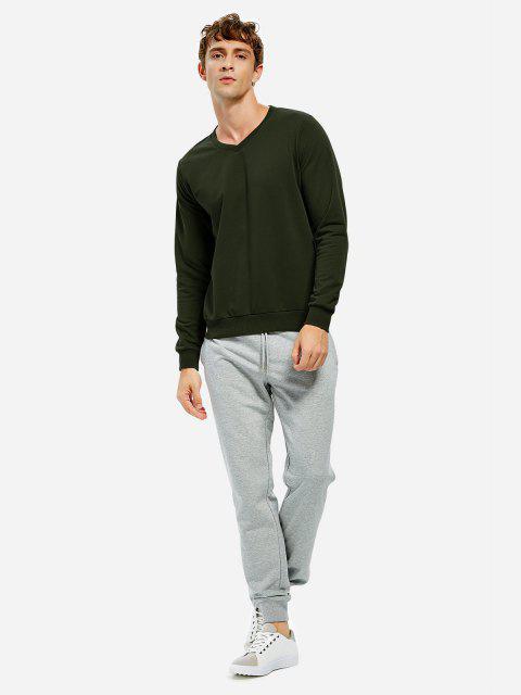 womens ZAN.STYLE Long Sleeve V Neck Sweatshirt - TURQUOISE L Mobile