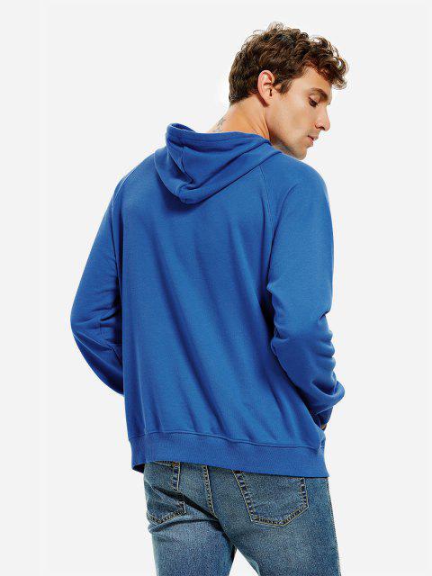 連帽運動衫 - 藍色 2XL Mobile