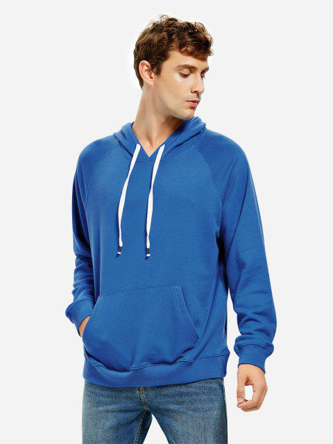 online ZAN.STYLE Hooded Sweatshirt - BLUE M Mobile