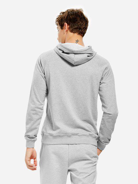連帽運動衫 - 淺灰 3XL Mobile