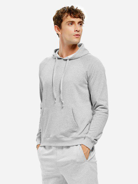 new ZAN.STYLE Hooded Sweatshirt - LIGHT GRAY 3XL Mobile