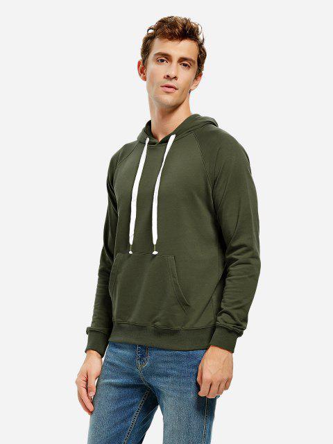 shops ZAN.STYLE Hooded Sweatshirt - BLACKISH GREEN 3XL Mobile