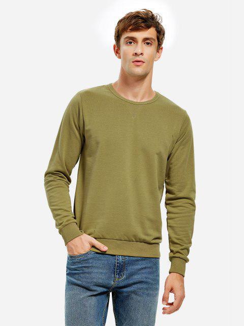 chic ZAN.STYLE Crew Neck Sweatshirt - MOSS GREEN 3XL Mobile