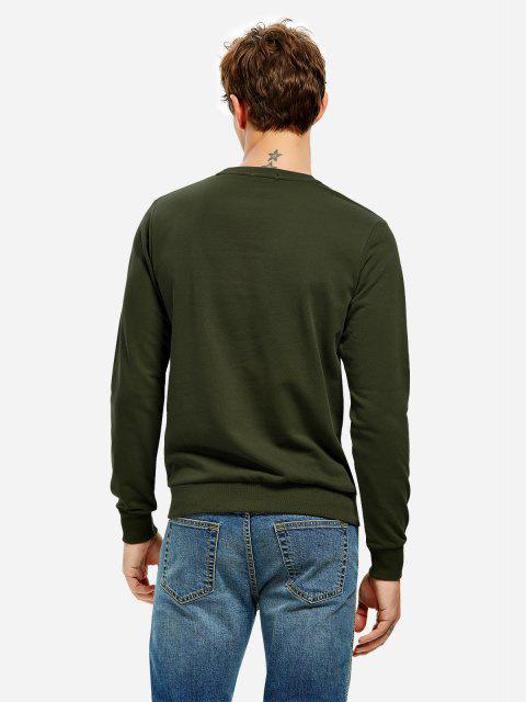 sale ZAN.STYLE Round Neck Sweatshirt - TURQUOISE 3XL Mobile