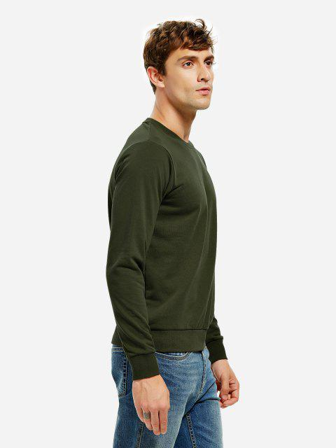 buy ZAN.STYLE Round Neck Sweatshirt - TURQUOISE XL Mobile