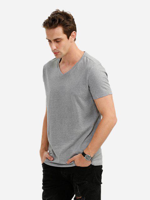 ZANSTYLE Camiseta con Cuello en V para Hombre - Gris XL Mobile