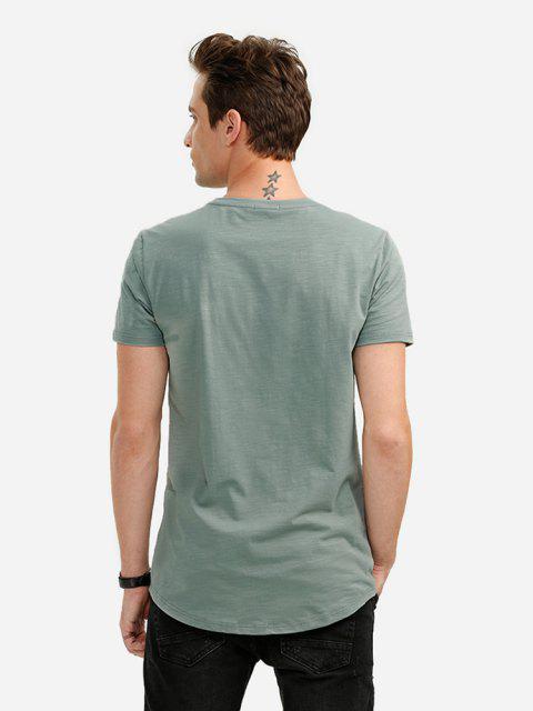 ZANSTYLE Camiseta con Cuello Redondo para Mujer - Verde XL Mobile