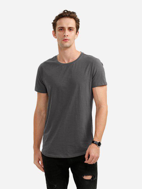 ZANSTYLE Camiseta con Cuello Redondo para Mujer - Gris M Mobile