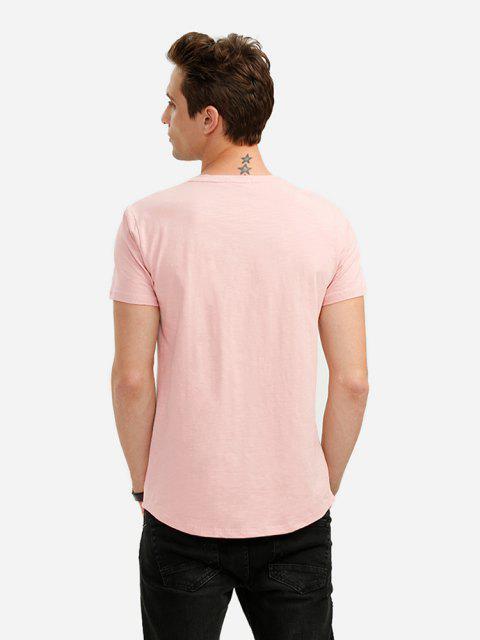 ZAN.STYLE Round Neck T Shirt - الضحلة الوردي 2XL Mobile