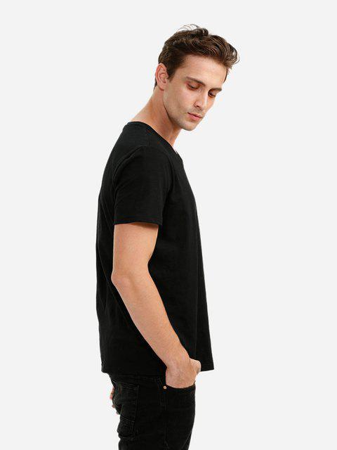 ZANSTYLE Camiseta con Cuello en V - Negro XL Mobile