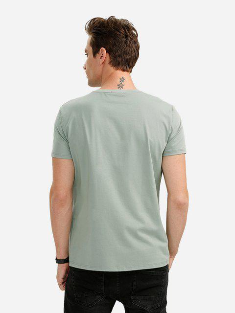 ZANSTYLE Camiseta con Cuello Redondo para Hombre - Verde L Mobile