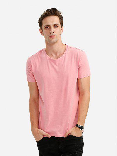 Crew Neck T Shirt - Pink M