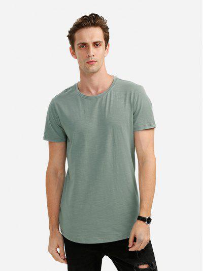 Männer Rundhalsausschnitt Helles Rosa T Shirt - Grün 2xl