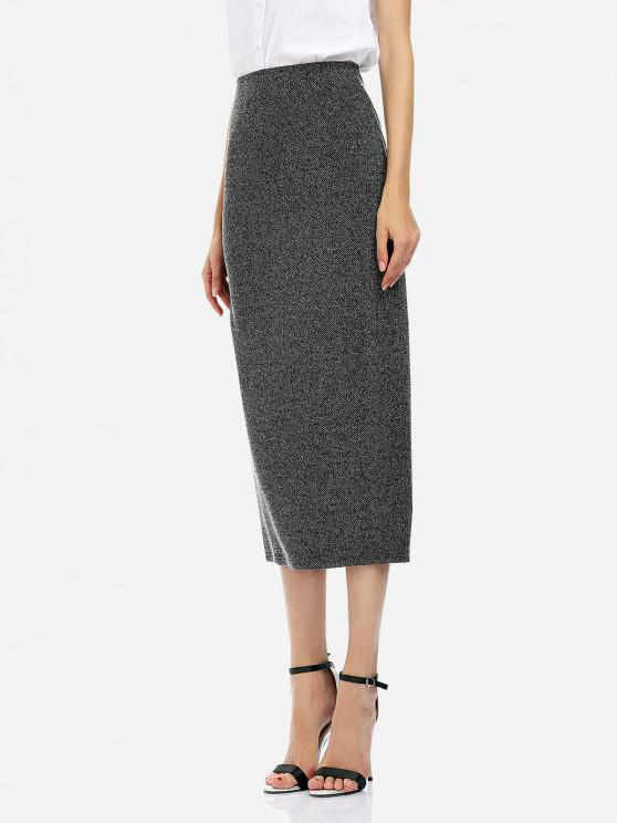 women ZAN.STYLE Ankle Length Pencil Skirt - BLACK L