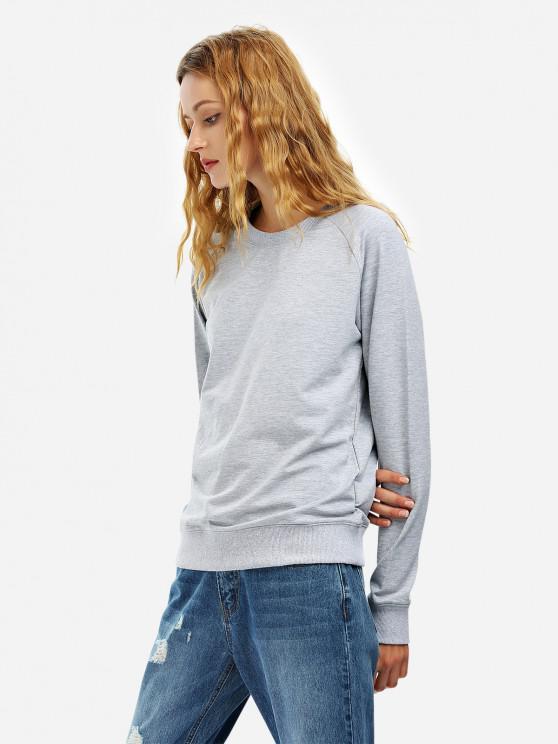 Sweat-Shirt Ample à Manches Longues - Gris L