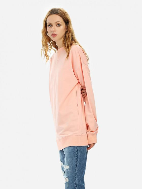 lady ZAN.STYLE Loose Fleece Sweatshirt - PINK M