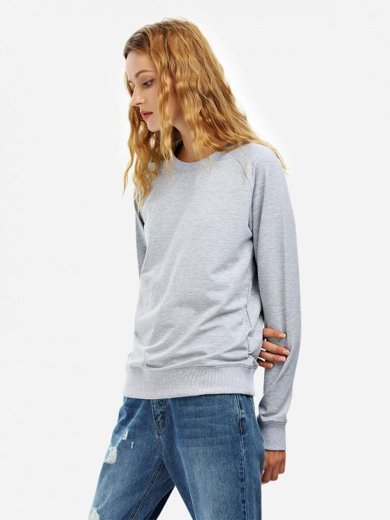 outfits ZAN.STYLE Loose Fit Sweatshirt - GRAY M