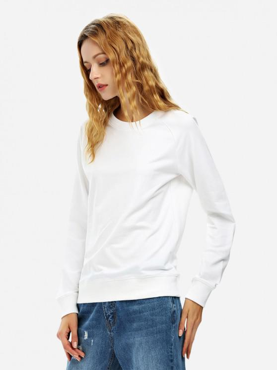 unique ZAN.STYLE Loose Fit Sweatshirt - WHITE S