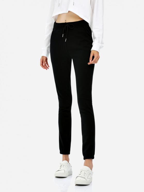 new ZAN.STYLE Drawstring Sweatpants - BLACK XL