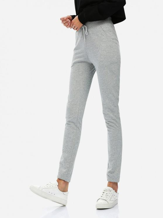 shops ZAN.STYLE Drawstring Sweatpants - HEATHER GRAY XL