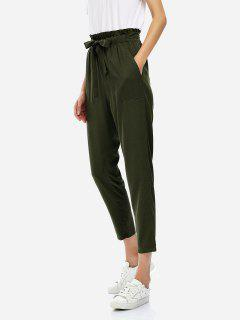 Pantalon Court Longueur De Cheville - Olive Verte L