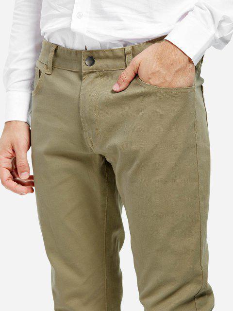 fancy ZAN.STYLE Stretch Knit Slim Fit Pants - KHAKI 33 Mobile