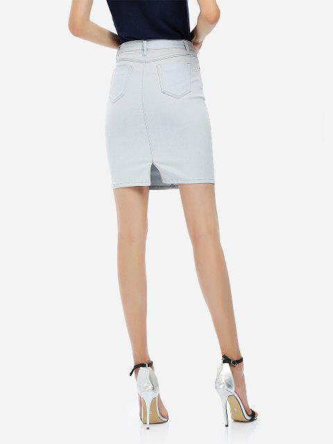 outfit ZAN.STYLE Pencil Skirt - LIGHT BLUE 2XL Mobile
