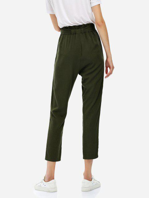chic ZAN.STYLE Cropped Pants - OLIVE GREEN XL Mobile