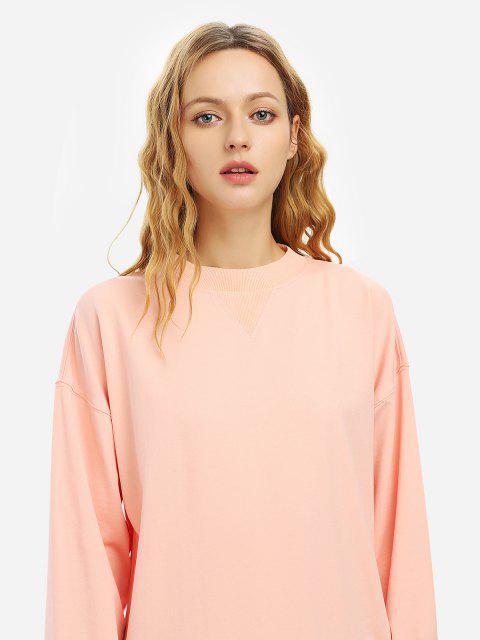 ZAN.STYLE Loose Fleece Sweatshirt - 粉 S Mobile