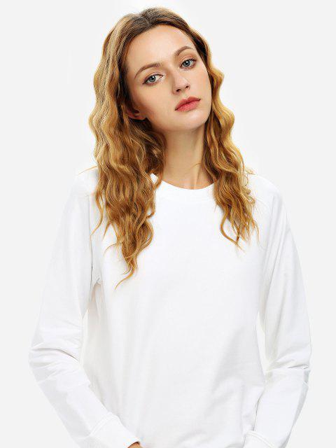 ZAN.STYLE Loose Fit Sweatshirt - 白色 S Mobile