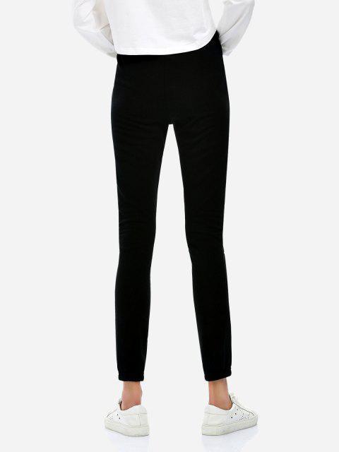 ZANSTYLE Pantalones Cortos con Cordón - Negro S Mobile
