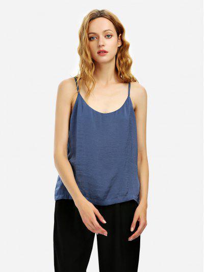 ZAN.STYLE Camisole Top - Blue Gray M