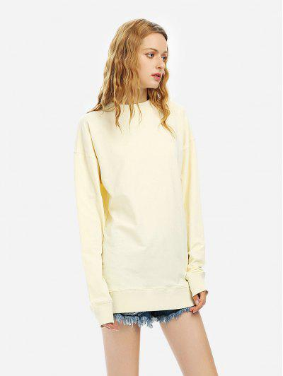 ZAN.STYLE Loose Fleece Sweatshirt - Beige L