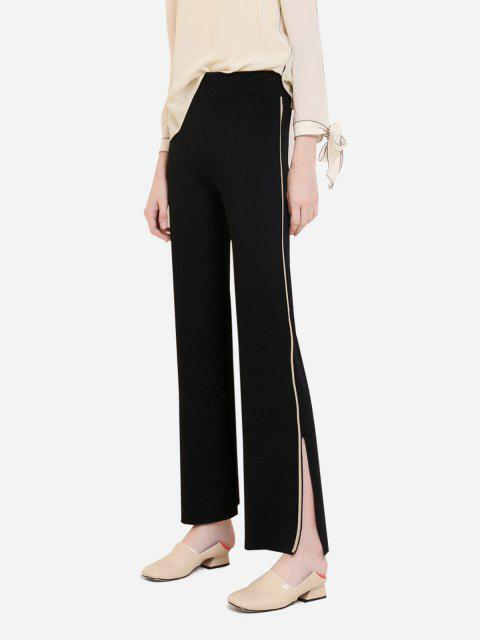 womens ZAN.STYLE Wide Leg Side Stripe Palazzo Pants - BLACK L Mobile