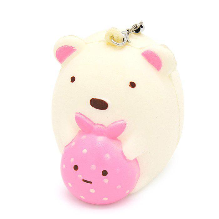 7cm Cute Cartoon Bear PU Foam Squishy Toy Mobile Phone Decor Funny Stress Reliever