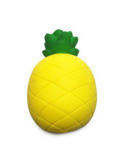 Light Color Pineapple PU Foam Squishy Toy Stress Reliever Relaxation Gift Decor - Yellow And Green