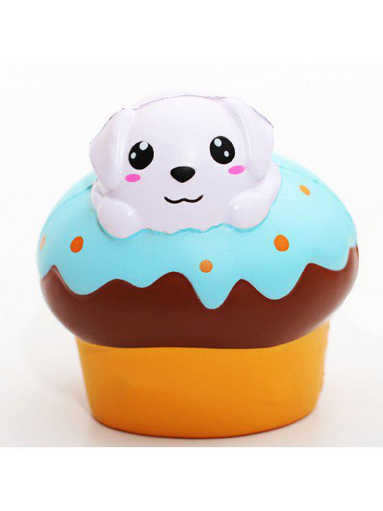Squishy Foam Toys : Cartoon Puppy Puff PU Foam Squishy Toy Stress Relief Product Relaxation Gift Decor COLORMIX ...