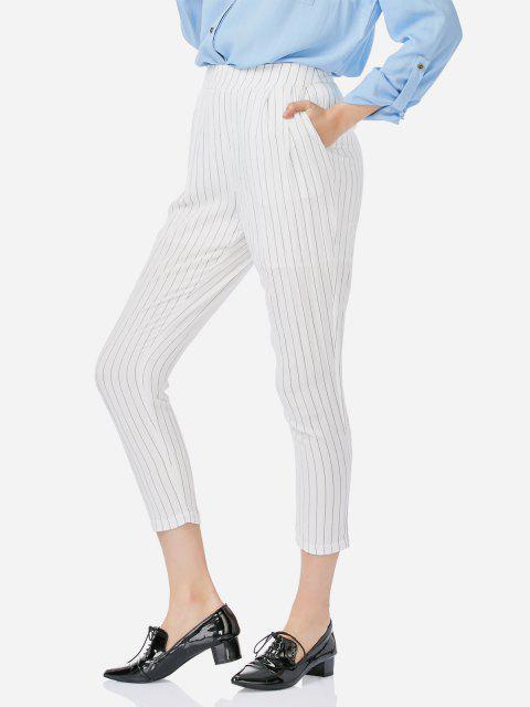 Lunghezza ZAN.STYLE caviglia Pieghe pantaloni - Bianca M Mobile
