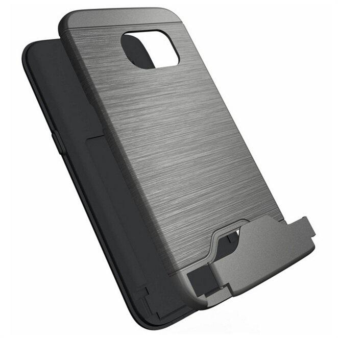 Brushed Finish Phone Case for Samsung Galaxy S8 Credit Card Slot Kickstand 216145701