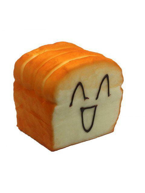 Square Toast Squishy Toy PU Foam Support pour Téléphone Portable Cadeau de Détente Anti-stress Drôle - Multicolore  Mobile