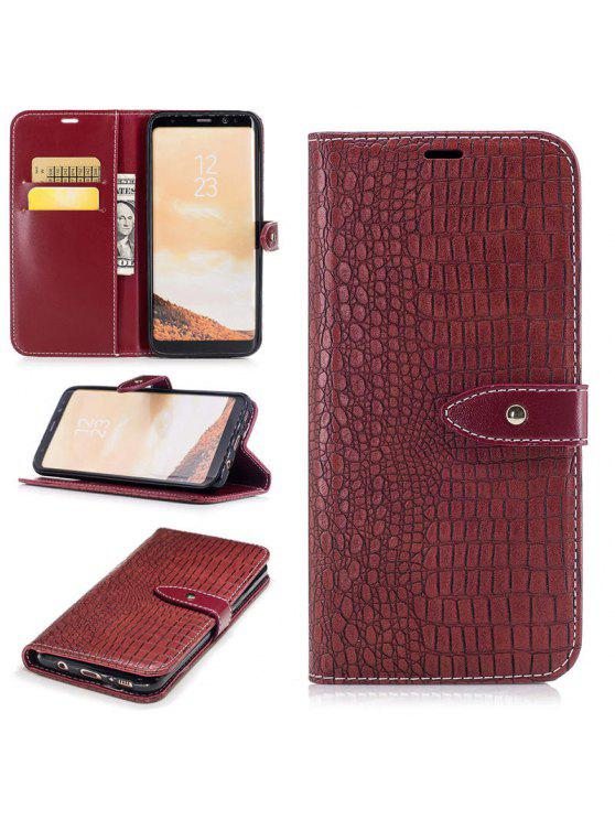 online store 8c938 6a2e2 Crocodile Grain PU Leather Phone Cover Case Wallet Pocket for Samsung  Galaxy S8 Plus